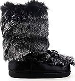 Cape Robbin Creature Furry Platform Fashion Furry Moritz Moon Boots (11, Black)