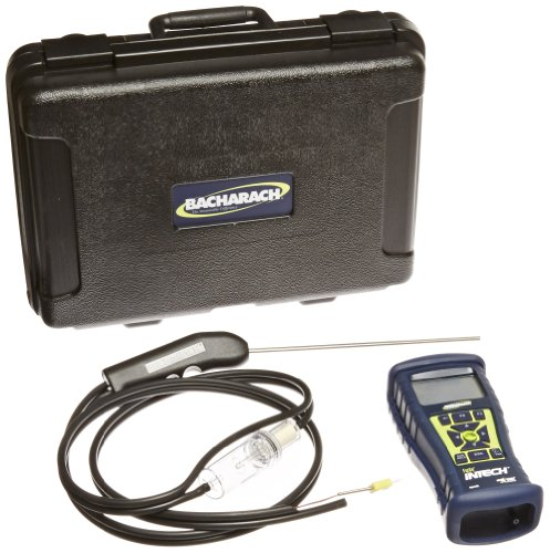 Bacharach Fyrite InTech 0024-8523 Residential Combustion Analyzer Kit with O2 Sensor, CO Sensor, Probe, 4 AA Batteries, Rubber Boot and Hard-Carry Case