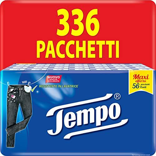 Tempo Fazzoletti Tascabili Classic - 4 veli - 336 pacchetti da 9 fazzoletti