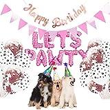 Haokaini 23Pcs / Set Kit de Decoración de Fiesta de Perro Mascota Permite Globos de Cumpleaños Pancartas Suministros de Fiesta para Gato de Perro