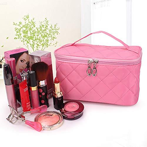 LITAO Bolsa de cosméticos Bolsa de Almacenamiento de cosméticos para Dama portátil de Viaje con Bolsa de Vestido Cuadrado, Rojo