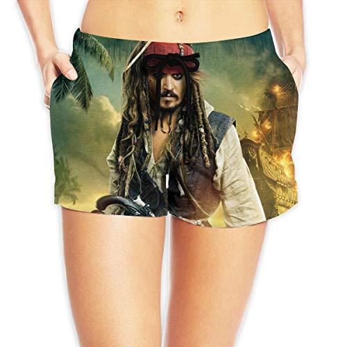 HADIHADI Piratas del Caribe Mujeres Impreso Playa Pantalones