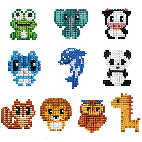 Diamond Painting Full for Kids Mosaic Kits for Children Phone Stickers(Animal)