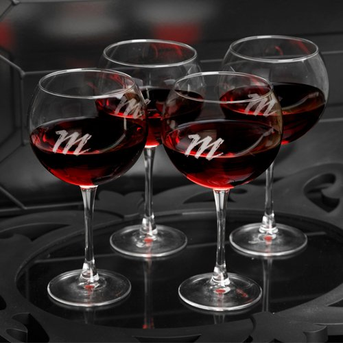Personalisierte Direct Personalisierte rot Wein Gläser–Set von vier