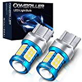 Combriller 7440 Led Bulb White 6000K, T20 7441 7444 7443 7440 Led Bulb with Projector Replacement for Led Reverse Lights Turn Signal Bulb Brake Light Bulb Tail Light Bulb Parking Light Bulb, Pack of 2