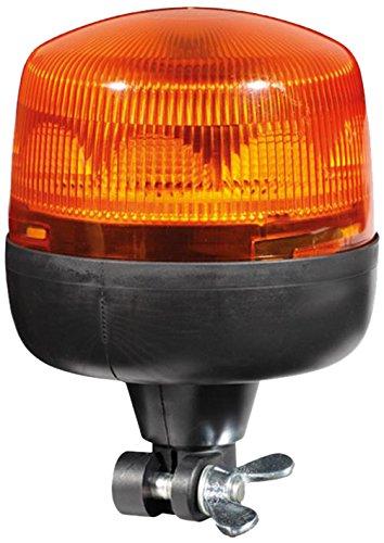 HELLA 2RL 010 979-011 Rundumkennleuchte - RotaLED - LED - 12V/24V - Lichtscheibenfarbe: gelb - LED-Lichtfarbe: gelb - Rohrstutzen, flexibel - Menge: 1