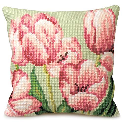 Tulipe A Droite Pillow Cross Stitch Kit 40 x 40 cm