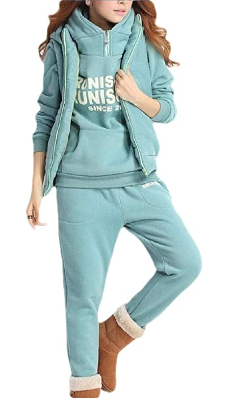 盆小屋大気Women's Sport Vest Pants Sweatsuits Set 3 Pieces Outfits Tracksuits Set