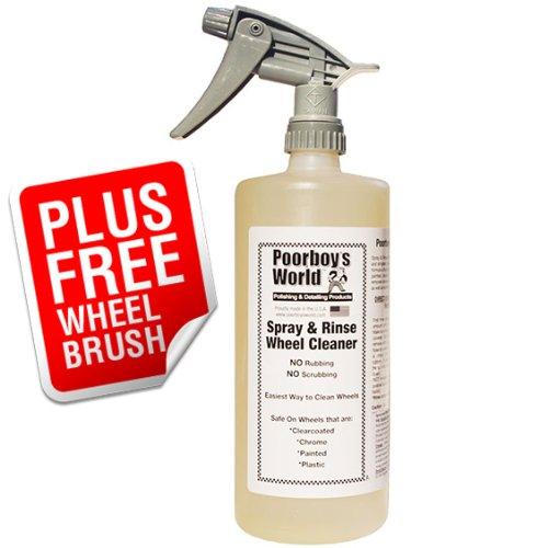 Poorboys Kit de nettoyage pour jantes avec spray et rinçage puissant à base d'acide