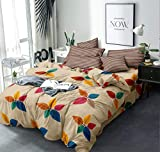MIL Furnishings Queen Size Glace Cotton Comforter Set Double Bed with Bedsheet and 2 Pillow Covers...
