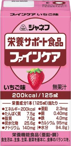 ジャネフ ファインケア栄養サポート飲料 いちご風味 125ml×12個