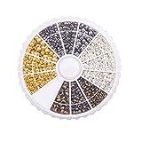 PandaHall Circa 1440 pz Tubo di Ottone Perline A Crimpare Cord Tappi Diametro 2mm 2.5mm 3mm per Gioielli 4 Colori