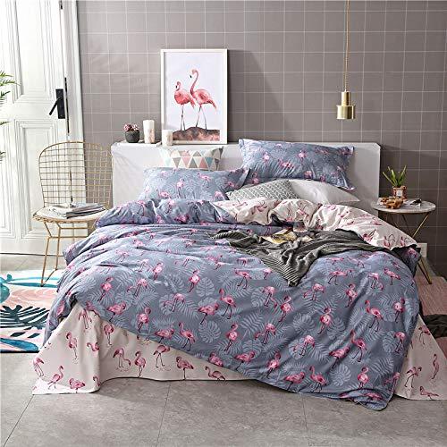 huyiming bed linings Se Utiliza para sábanas de algodón de Cuatro Piezas de Aloe Vera, Ropa de Cama con Funda de edredón Juego de Cuatro Piezas de 2,2 m