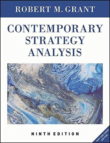 Contemporary Strategy Analysis [Hardcover] [Dec 18, 2015] Grant, Robert M. Author