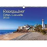 Reisezauber Gran Canaria - Calendario para 2022 canarias (tamaño DIN A3, incluye 1 calendario, 1 tarjeta de felicitación de Navidad en total 3 piezas)