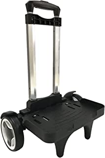 Backpack Trolley Wheels Roll Cart - Aluminum Alloy Pull Rod Expandable Climbing Stairs Mute Hand Truck for Luggage Student School Bag 2 Wheels Black