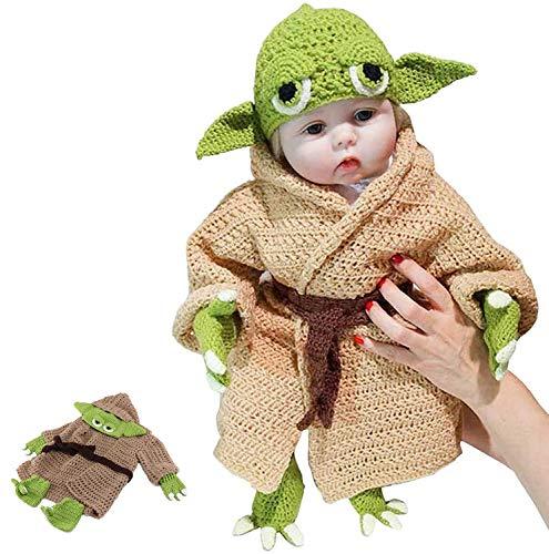Baby Yoda Disfraz de fotografía Prop para recién Nacidos para bebé de 0 a 6 meses Ganchillo Punto Disfraz Conjuntos
