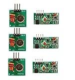 DollaTek 3Pcs 433MHz RF Transmisor inalámbrico y Kit de módulo Receptor para Arduino Raspberry Pi