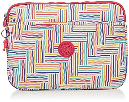 Kipling womens 13' laptop sleeve, Candy Lines, Small US