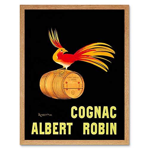 Wee Blue Coo Advert Drink Alcohol Albert Robin Cognac Brandy Bird France Art Print Framed Poster Wall Decor Kunstdruk Poster Wanddecoratie 12X16 inch