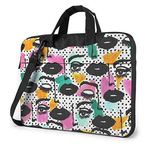 Laptop-Hülle, Augen des Volkes Tragbare Laptop-Tasche Laptop-Schulter-Umhängetasche Schutztasche 15,6 Zoll