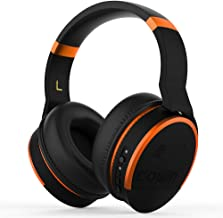 COWIN E8 [Upgraded] Active Noise Cancelling Headphone Bluetooth Headphones with Microphone Hi-Fi Deep Bass Wireless Headphones Over Ear 20 Hour Playtime for Travel/Work/TV/Computer/Phone - Orange