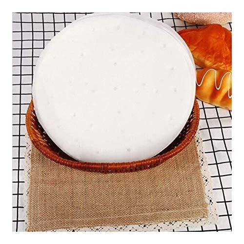 50 piezas/bolsa de papel de vapor blanco de 9 pulgadas Papel de vaporizador de pan de papel engrasado antiadherente desechable (Color: 50 piezas (6 pulgadas))