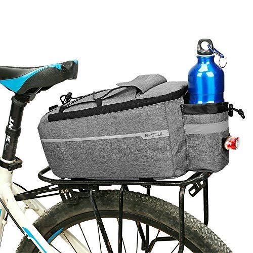 ConPush Fahrrad Gepäckträgertasche Multifunktionale MTB Isolierte Umhängetasche (Grau)