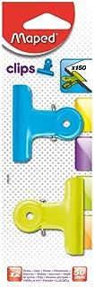 Maped Helix USA Binder Clips 50mm, Acrylic, Multicoloured, 1.04 x 2.4 x 7.4 cm