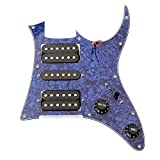 Loaded Pickguard Pre-wired HSH Humbuker Pickup For Ibanez Guitar (Blue Pearl)