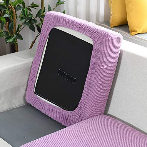 XDKS Fundas de cojín para sofá y sofá, fundas de cojín para cojines individuales, fundas de cojín de jacquard elástico (sillón, color morado luna)