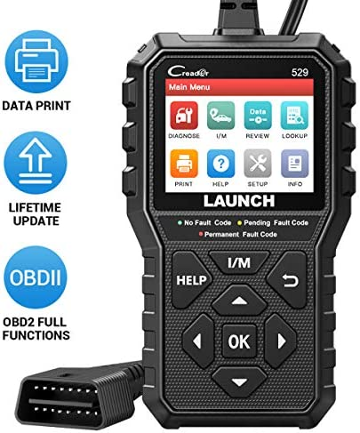 LAUNCHOBD2 Scanner CR529 Code Reader with Full OBD2 Function One Click I M Readiness Turn Off product image
