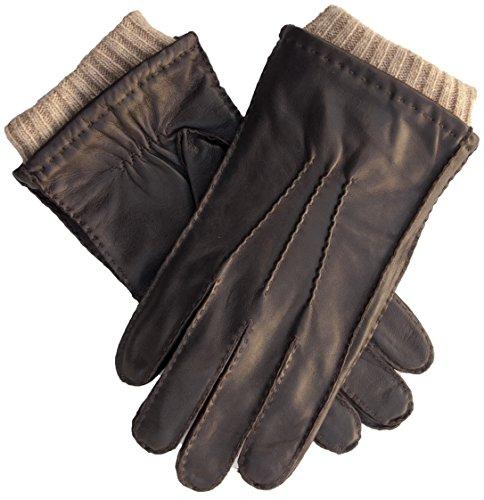 EEM Heren leren handschoenen EDDIE van lamsnappaleder met wollen kasjmier-voering, hoogwaardig, met de hand genaaid, premium, warm