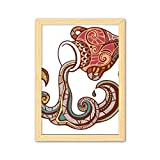 CaoGSH Acuario Constelación Signatura del zodiaco Decoración de madera Marco de fotos A4
