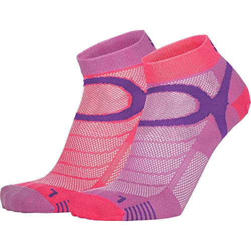 EIGHT SOX Eightsox Sport Color Edition 2er Pack Socken, Violet-Fuchsia, EU 39-41
