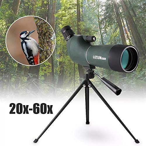 Buy YADSHENG Monoculars 20-60x60mm Waterproof Zoom Scope Birdwatching Telescope Tripod Prism Monocul...