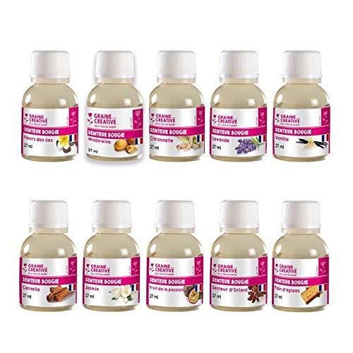 Graine Créative Coffret 10 parfums pour Bougies à Faire soi-même 27 ML