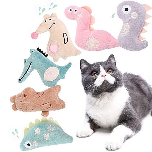 REYOK 6 PCS Catnip Giocattoli per Gatti, Giocattolo interattivo per Gatti, da mordere e Masticare, Pulizia dei Denti del Gatto, Giocattoli per Gatto