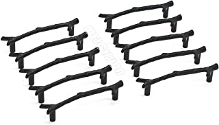 WEICHUAN 10PCS Zinc Alloy Black Twig Branch Zinc Alloy Decorative Cabinet Wardrobe Furniture Door Drawer Knobs Pulls Handles Hardware Décor (10PCS Black Pulls Large)