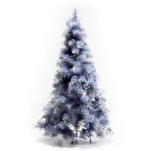 Árbol de Navidad 150cm Artificial Ramas Gris Metal