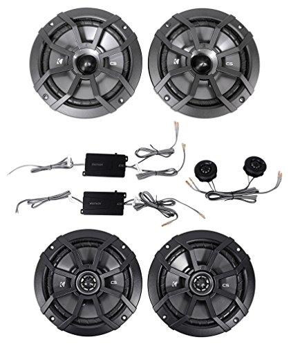 KICKER 43CSS654 6.5' 600w Car Audio Component Speakers+2 43CSC654 6.5' Speakers