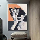 wZUN Chica Sexy Pintura Abstracta Carteles e Impresiones nórdicos Arte Mural Lienzo Pintura impresión Paisaje 60x80cm Sin Marco