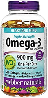 Webber Naturals Triple-Strength Omega-3, 200 Softgels