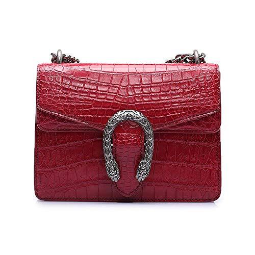 EEKUY Cross Body Bag, Vrouwen Alligator Krokodil Lederen Schoudertas Cellphone Portemonnee met Verstelbare Schouderband 8.7×6.3×2.4 Inch