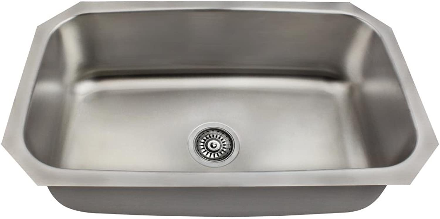 Mr Direct Us1030 Single Bowl Sink, Stainless Steel