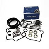 Timing Belt Kit Water Pump w/Gaskets Tensioner for 1987-2001 Toyota Camry Celica MR2 Solara RAV4 2.0L 2.2L 3SFE 5SFE 16V Plus Valve Cover Gasket