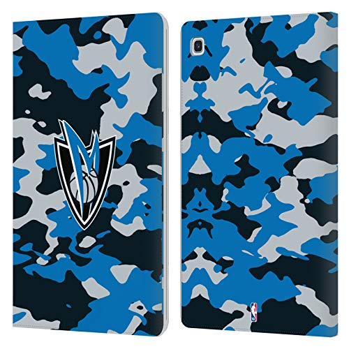 Officiële NBA Camouflage 2018/19 Dallas Mavericks Lederen Book Portemonnee Cover Compatibel voor Samsung Galaxy Tab S5e