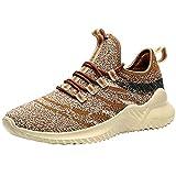VVQI Laufschuhe Herren Damen Sneaker Sportschuhe Turnschuhe Mode Leichtgewichts Freizeit Atmungsaktive Fitness Schuhe 39 EU 002 3 Khaki