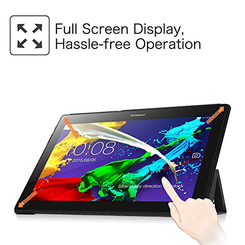 Fintie Hülle Case für Lenovo Tab 3 10 Plus/Tab 3 10 Business/Tab 2 A10 - Folio Kunstleder Schutzhülle Tasche Etui für Lenovo Tab 10 / Tab 2 A10-30 10,1 Zoll Tablet, Don't Touch