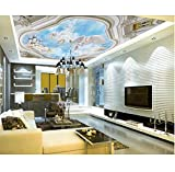 Wall Mural Paper Ceiling 3D Tiles HD Image TV Backdrop Embossed angel Embossed Custom Gift Abstract...